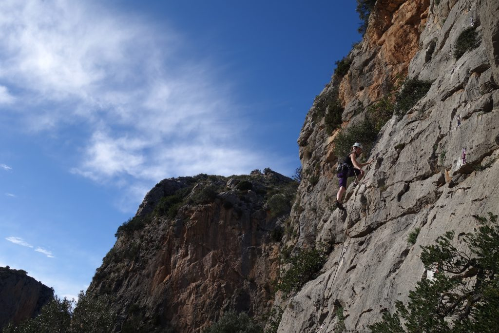 Easy climbing in Sella.
