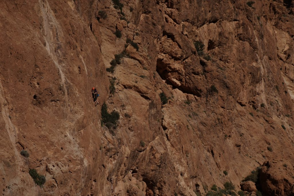Sports Climbing in the Todra Gorge. This amazing geological feature offers some amazing sports climbing both on single and multi-pitched routes.