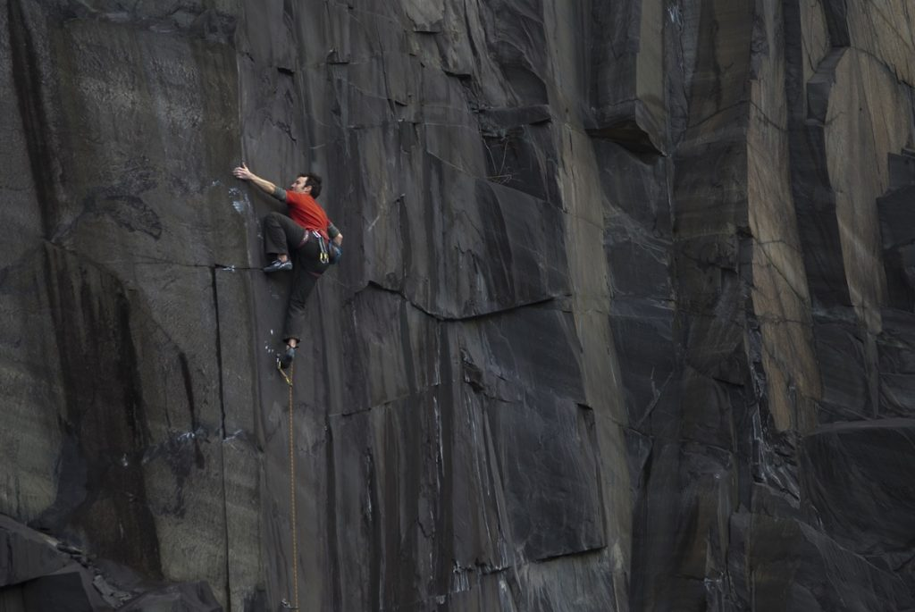 James McHaffie on Heatseeker, a technical and commiting 7c in the Rainbow Walls area of the Slate Quarries