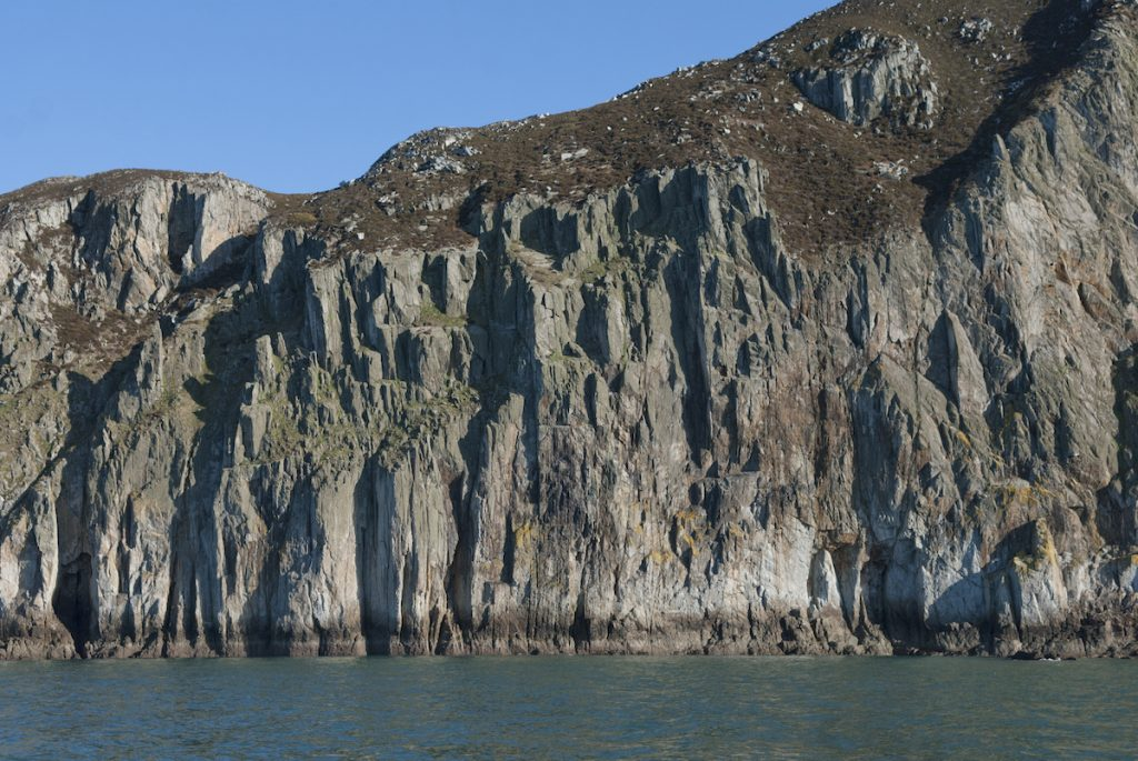 The mighty Main Cliff at Gogarth. Home to some of the finest sea cliff climbing in the UK.