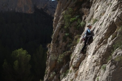 More Easy Rock Climbing in Sella on one of our Hot Rock Climbing Courses.