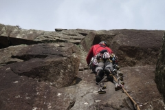 Practicing Aid Climbing at Tremadog on one of our How to Big Wall Courses