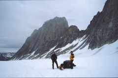 The remote Kichatna Spire in the Alaska Range, big wall climbing on steriods.