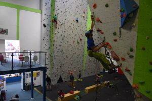 Kyle Wood on a How to Big Wall Course. Here learning the basics of Aid Climbing