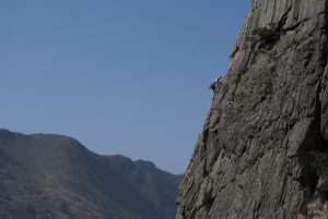 Our lead climbing coaching courses use route like this one, Crackstone Rib in the Llanberis Pass.