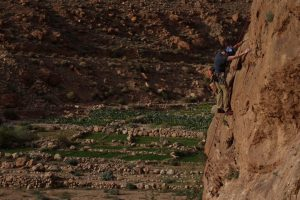 Rock Climbing in amazing Todra Gorge.