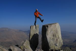 A client leaping from Adam to Eve to gain the freedom of the mountains. Don't worry it is not compulsory!
