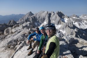 On the Summit of Naranaga Del Bulnes after coaching Josh and Jesse to trad climb their way up it.