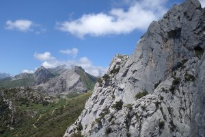Looking across at the ridge of Los Astrocones, Cerro Agero, Hermida Gorge, Picos Du Europa