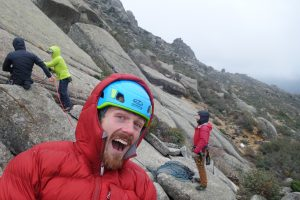 Slab friction climbing at a chilly Valddemanco, as we wait for the sun!