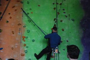 A key skill in big wall climbing is lowering out whilst jumaring a pitch to clean it. This could be to get round horizontal traverse or roof.