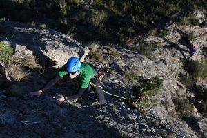 Escalera Primera a classic mulitpitch sports route at Chodes