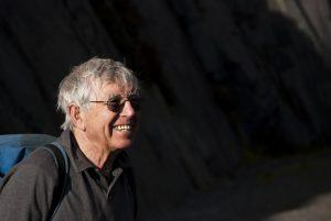 The legendary Rock Climber Joe Borwn out in teh Dinorwic Slate Quarries