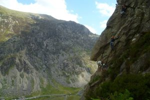 A busy day on the plexus Buttress.