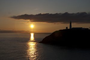 Sunset over South Stack Lighthouse, Gogarth.