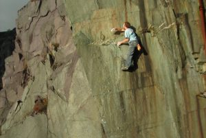 Neil Dyer soloing The Untouchables, 8a, Rainbow Walls!