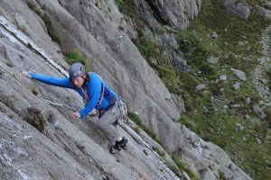 The classic easy route up the idwal slabs, at Diff it is within most people reach. Here Alex Rogers starts out the UK trad tour with this amazing route.