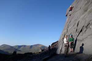 Great views from The Sidings and easy climbing make it one of the most popular sports climbing venues in North Wales.