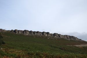 The amazing stanage edge, one of our key locations on our UK trad tour.