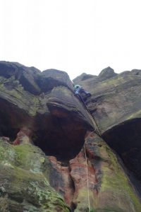 Great Flake at Helsby, a fantastic route worth ticking off as you travel to or from North Wales