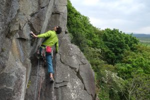 Nick Bullock making quick work of the E3 Geireagle at Craig Bwlch Y Moch, tremaodog