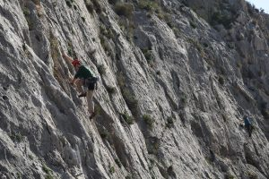 Echo fixe, 4a, one of the many great easy routes at Toic Far Oeste.