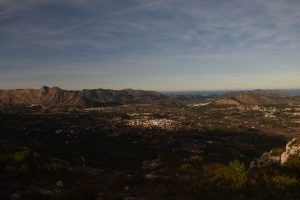 Looking down at the Xalo Valley and Alcalali