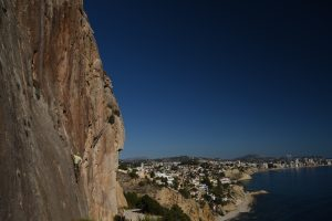 Vía yuyuba, a great route on Toix Este, overlooking Calpe