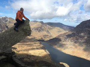 Alex on the Cannon on Tryfan.