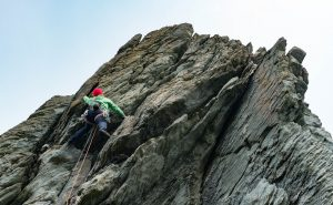 Mark Reeves on Atlantic Wall on D-Day Buttress, The Range, Gogarth