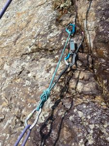 Dodgy Belay at Craig Dorys