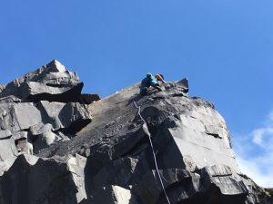 Simon Lake on Ayer's Rock, in Australia a great new 6c.