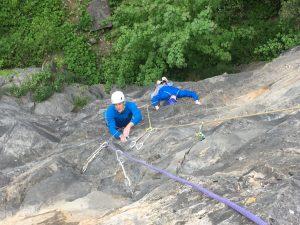 Simon and Wayne following up Yellow Wall, Avon Gorge