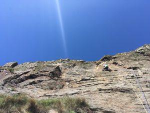 Simon on a Crag Dorys E3