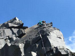 Simon Lake climbing a great new 6c in Australia.