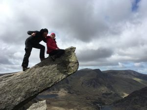 Some clients enjoying The Canon on Tryfan