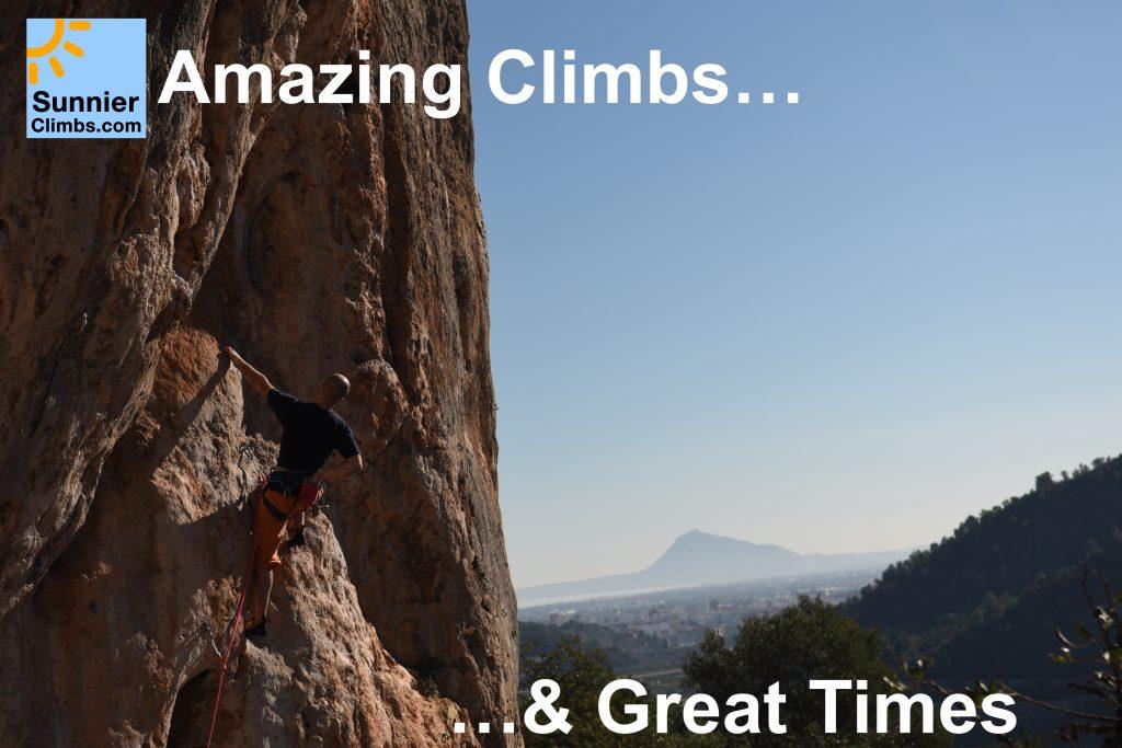 Hot Rock Climbing Holidays with Sunnier Climbs