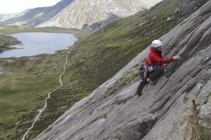 High on the Idwal Slabs.