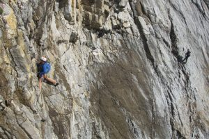 Guy Wilson lead the final pitch of Dream of White Horses, Wen Zawn, Gogarth.