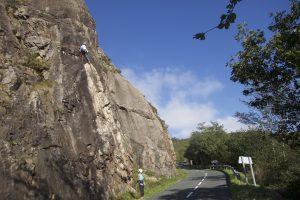 Climbing in Aritxulegi just outside San Sebastian